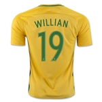 Brazil 2016 WILLIAN Home Soccer Jersey