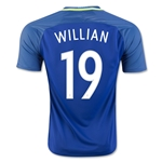 Brazil 2016 WILLIAN Away Soccer Jersey