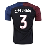 USA 2016 JEFFERSON Away Soccer Jersey