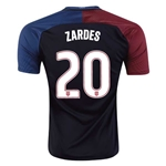 USA 2016 ZARDES Away Soccer Jersey