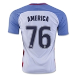 USA 2016 AMERICA Home Soccer Jersey