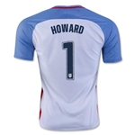 USA 2016 HOWARD Home Soccer Jersey