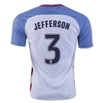 USA 2016 JEFFERSON Home Soccer Jersey