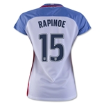 USA 2016 RAPINOE Women's Home Soccer Jersey