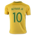 Brazil 2016 NEYMAR JR Youth Home Soccer Jersey