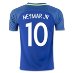 Brazil 2016 NEYMAR JR Youth Away Soccer Jersey