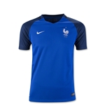 France 2016 Youth Home Soccer Jersey