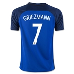 France 2016 GRIEZMANN Youth Home Soccer Jersey