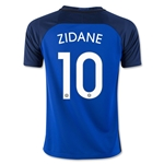 France 2016 ZIDANE Youth Home Soccer Jersey