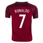 Portugal 2016 RONALDO Youth Home Soccer Jersey