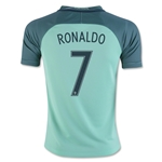 Portugal 2016 RONALDO Youth Away Soccer Jersey