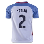 USA 2016 YEDLIN Youth Home Soccer Jersey