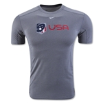 Nike USA Pro Fitted T-Shirt (Gray)