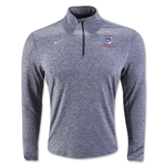 Nike USA 1/4 Zip Heather Element Top (Gray)