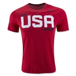 Nike USA Dri-FIT Legend T-Shirt 2 (Red)