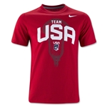 Nike Team USA Lacrosse Youth Cotton T-Shirt (Red)