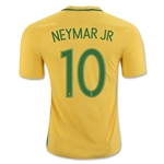 Brazil 2016 NEYMAR JR Authentic Home Soccer Jersey