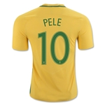 Brazil 2016 PELE Authentic Home Soccer Jersey