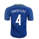 Brazil 2016 DAVID LUIZ Authentic Away Soccer Jersey