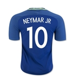 Brazil 2016 NEYMAR JR Authentic Away Soccer Jersey