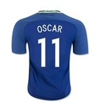 Brazil 2016 OSCAR Authentic Away Soccer Jersey