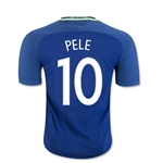 Brazil 2016 PELE Authentic Away Soccer Jersey
