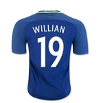 Brazil 2016 WILLIAN Authentic Away Soccer Jersey