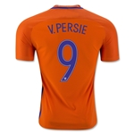 Netherlands 2016 V. PERSIE Authentic Home Soccer Jersey