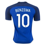 France 2016 BENZEMA Authentic Home Soccer Jersey