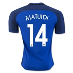 France 2016 MATUIDI Authentic Home Soccer Jersey