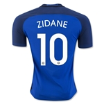 France 2016 ZIDANE Authentic Home Soccer Jersey