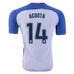 USA 2016 ACOSTA Authentic Home Soccer Jersey