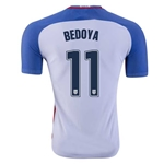 USA 2016 BEDOYA Authentic Home Soccer Jersey