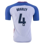 USA 2016 BRADLEY Authentic Home Soccer Jersey