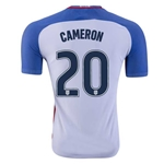 USA 2016 CAMERON Authentic Home Soccer Jersey