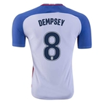 USA 2016 DEMPSEY Authentic Home Soccer Jersey