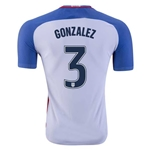 USA 2016 GONZALEZ Authentic Home Soccer Jersey