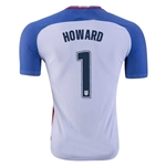 USA 2016 HOWARD Authentic Home Soccer Jersey