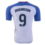 USA 2016 JOHANNSSON Authentic Home Soccer Jersey