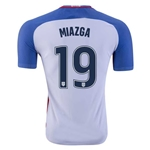 USA 2016 MIAZGA Authentic Home Soccer Jersey