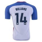 USA 2016 WILLIAMS Authentic Home Soccer Jersey