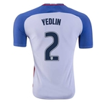 USA 2016 YEDLIN Authentic Home Soccer Jersey