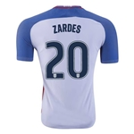 USA 2016 ZARDES Authentic Home Soccer Jersey