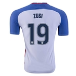 USA 2016 ZUSI Authentic Home Soccer Jersey
