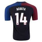 USA 2016 ACOSTA Authentic Away Soccer Jersey
