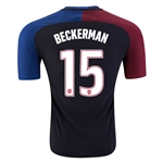 USA 2016 BECKERMAN Authentic Away Soccer Jersey