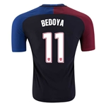 USA 2016 BEDOYA Authentic Away Soccer Jersey