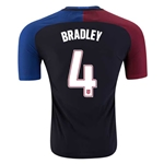 USA 2016 BRADLEY Authentic Away Soccer Jersey