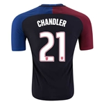 USA 2016 CHANDLER Authentic Away Soccer Jersey