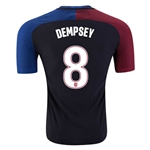 USA 2016 DEMPSEY Authentic Away Soccer Jersey
